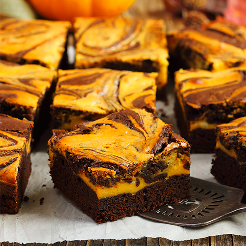 pumkin swirl brownies