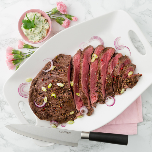 Mariniertes Flank Steak